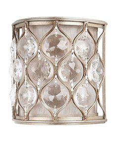 Murray Feiss Lighting, Lucia Collection Crystal Wall Sconce - Lighting & Lamps - for the home - Macy's