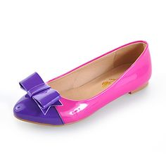 Patent Leather Flat Heel Pointy Toe With Split Joint Casual / Party / Evening Shoes (More Colors) – USD $ 29.99