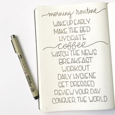 Morning Routine in my #bulletjournal