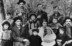 """The John """"Gull"""" Tipton family around 1930. John Tipton operated Cable Mill in Cades Cove for a time during the 1940s and 1950s."""