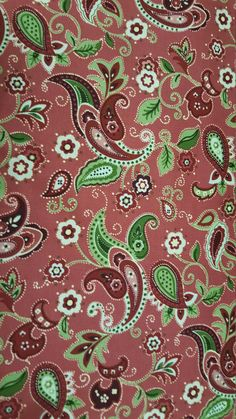 Cottage Rose Paisley Fabric on Brown Cotton Fabric by the Yard by LaCreekBlue on Etsy