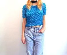 Hella 90s One Size SCRUNCHY SHIRT by ACTUALTEEN on Etsy, $18.00