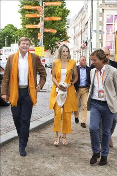 Queens & Princesses - King Willem Alexander and Queen Maxima attended the men's final beach volleyball between the Netherlands and Brazil, which took place in The Hague.