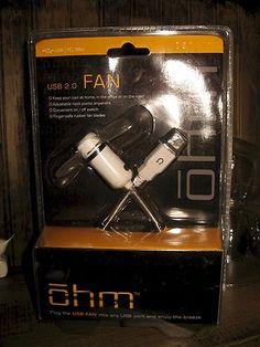 SOLD! $11.14 (sale price 6.59 + shipping) ohm USB 2.0 port Personal Fan For Hotflash Hannahs & Harrys on/off Sealed New @eBay! http://r.ebay.com/bOUsps