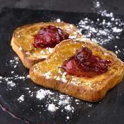 Recette pain perdu brioché à la compotée de prunes