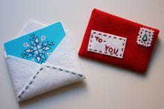Felt Gift Card Envelopes