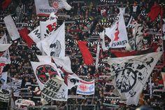 Fans von Eintracht Frankfurt beim Spiel gegen den FSV Mainz.