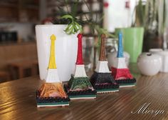 Paris Eiffel Tower Stamp Set  Resin Stamp  Rubber Stamp by mieryaw