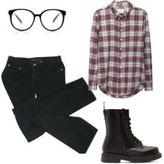hipster by pearster on Polyvore featuring Band of Outsiders, MARC BY MARC JACOBS and Dr. Martens