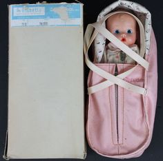 Rare 1950s Vogue I'm Ginnette Doll with Baby Toter 715 in Box Never Played With #Vogue