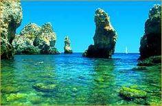 The colours of the sea - algarve, Portugal