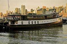 The Yankee, built in repurposed ferry docked in Hoboken, NJ. Now a private home and Bed and Breakfast, The Yankee has served as an Ellis Island Ferry and a State of Liberty Ferry. Visit Maine, Casco Bay, Ferry Boat, Float Your Boat, Ellis Island, Brooklyn New York, Travel Abroad, Trip Advisor, New York Skyline
