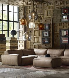 With classic loft-style proportions, Nirvana large sectional sofa creates a haven in any corner. Distinctive handmade furniture by Timothy Oulton.