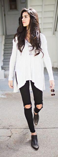 Teenage Fashion Blog: Light Layers | Long Sleeve Blouse with Boho Neckla...