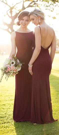 Burgundy Bridesmaid Dresses by Storella Vita