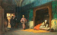 Bayezid I Thunderbolt in Tamerlane's captivity, by Chlebowski