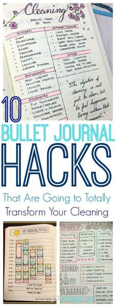 10 Bullet Journal Hacks That Are Going to Totally Transform Your Cleaning Routine! #cleaning #bujo #bullet journal