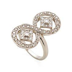 Anel de Ouro Nobre 18K com diamantes brancos e cognac http://m.hstern.com.br/joia/anel/jogo-de-cartas/A1B202420