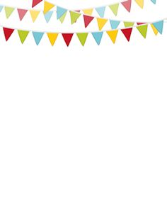 Wow! So many adorable free borders! Including this Bunting Border.