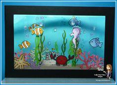 Aquarium Box Card - 3D - bjl