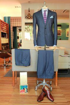 https://www.facebook.com/media/set/?set=a.10153276870789844.1073742441.94355784843&type=1  #fashion #style #menswear #mensfashion #mtm #madetomeasure #buczynski #buczynskitailoring #ariston #suit #stripedsuit #tailoring