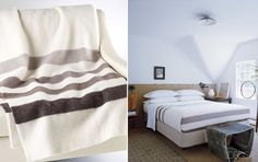 The Bay's new cashmere striped blankets and throws. They're so soft and so beautiful...and so expensive.