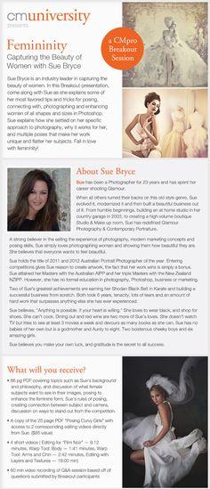 femininity | capturing the beauty of women with Sue Bryce