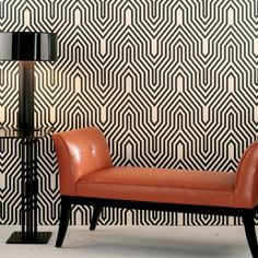 Minaret Wallpaper - (for this wallpaper, you need furniture like those pictured - minimalism to the extreme!)