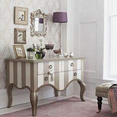Glamorous bedroom with bespoke dresser