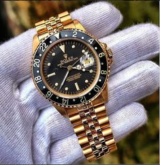 What do you think of the Rolex GMT Master with black face and bezel? ⌚️ What do you think of the Rolex GMT Master with black face and bezel? Men's Watches, Rolex Watches For Men, Luxury Watches For Men, Cool Watches, Dream Watches, Rolex Vintage, Vintage Watches, Rolex Gmt Master, Black Rolex