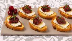 Camembert Canapés With Cranberry Pear Chutney - Recipes - Best Recipes Ever - Refrigerate any leftover chutney for up to 2 weeks
