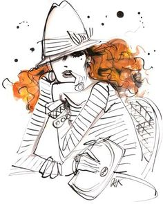 #izakzenou #fashionillustration #illustration  #indiaink #trafficnyc #artistprints  #fashionista contact info@traffic-nyc.com