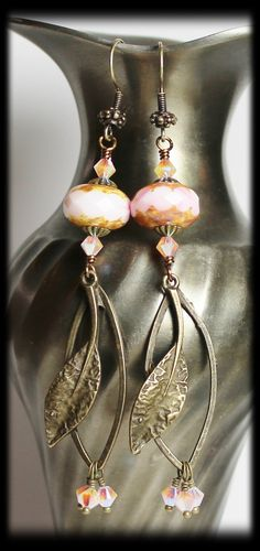 """""""Calla Lily"""" Earrings 1st Reveal 7th Bead Soup Blog Party"""