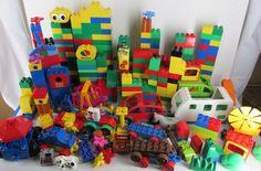 Lego Duplo Bricks Blocks Base Plates 370 Pieces Huge Lot Car Van Camper #LEGO