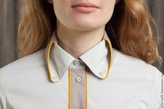 Couture Details, Fashion Details, Collar Designs, Blouse Designs, Shirt Collar Styles, Collar Shirts, Look 2018, Stylish Dress Designs, Collar Pattern