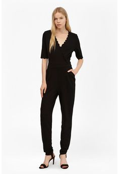 30c885c5c5f5 Beau Scallop Trim Jumpsuit Jumpsuits For Sale