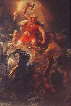 Thor, Norse god of thunder and lightning
