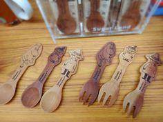 Moomin (MOOMIN) wooden spoon fork (Moomin Snufkin-Mii) Snufkin spoon (japan import): Amazon.es: Bebé