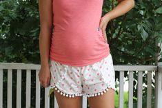 Knit Happy Home Coachella Shorts