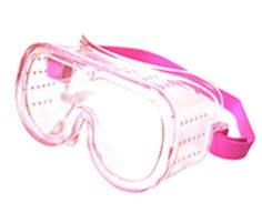 Pink Small Eye Protection Protective Lab Clear Goggles Glasses Safety Women Kids #ERB