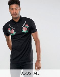 Buy Black Asos Printed T-shirt for men at best price. Compare T-Shirts prices from online stores like Asos - Wossel Global Asos Online Shopping, Online Shopping Clothes, Polo Bordado, Polo Shirt Embroidery, Polo Outfit, Fashion Stylist, Best Brand, Latest Fashion Clothes, Mens Fitness