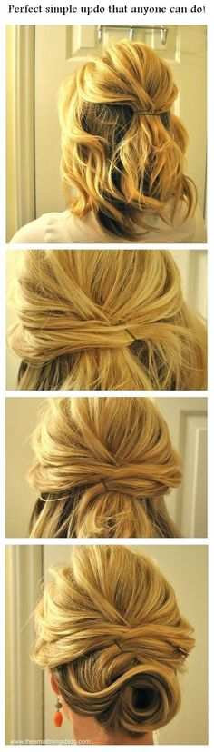 Perfect simple updo that anyone can do! | hairstyles tutorial by Wynee