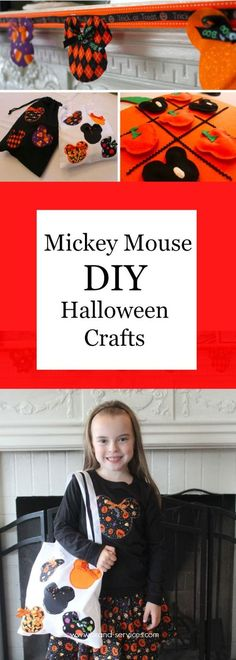 So many clever Disney and Mickey Mouse Halloween DIY projects - sure to add to the fun of the season!