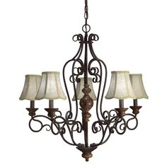 Aztec Lighting Transitional 5-light Chandelier - Overstock™ Shopping - Great Deals on Aztec Lighting Chandeliers & Pendants