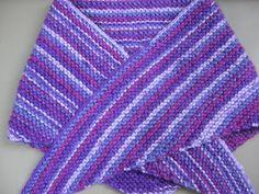 Receitas de Trico e Croche: Lenço em tricô