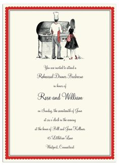 Cook Out Couple Invitation