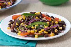 Salade méditerranéenne aux haricots noirs