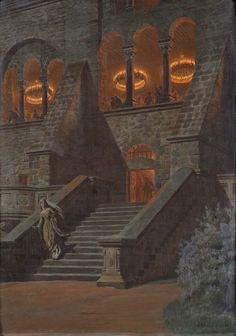 Franz Hein(1863-1927), Cinderella - The Feast at the castle