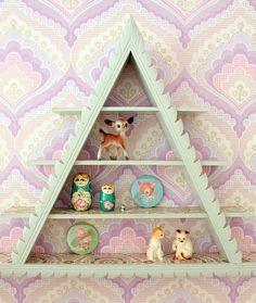 Vintage shelf in the girls bedroom by citrusandorange, via Flickr