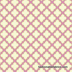Fabric... Up Parasol Trellis in Pink by Heather Bailey for FreeSpirit Fabrics